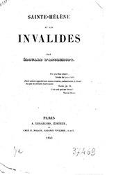 Édouard d'Anglemont: Sainte-Hélène et les Invalides