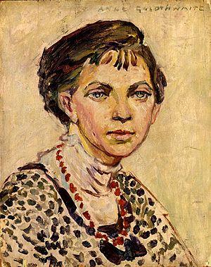 Anne Goldthwaite - Image: Anne Goldthwaite, Self portrait, circa 1906 1913