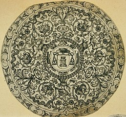 Ornamental design with cardinal's hat