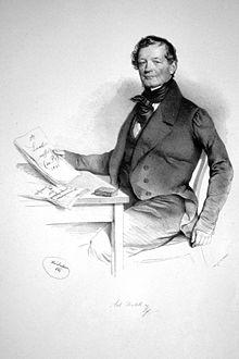Anton Diabelli, Lithographie von Josef Kriehuber, 1841 (Quelle: Wikimedia)