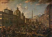 Anton Goubau - The Piazza Navone in Rome.jpg
