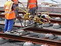 Anzin & Valenciennes - Travaux de raccordement des lignes A & B du tramway de Valenciennes à la Croix d'Anzin le 19 août 2013 (23).JPG