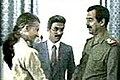 April Glaspie, Sadoun al-Zubaydi and Saddam Hussein.jpg