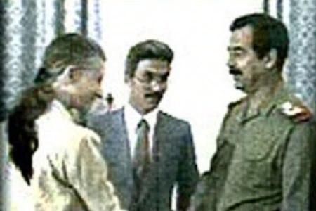 April Glaspie, Sadoun al-Zubaydi and Saddam Hussein
