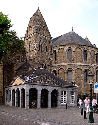 Enneahedron - The Basilica of Our Lady (Maastricht), whose enneahedral tower tops form a space-filling polyhedron.