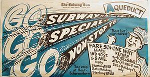 Aqueduct Racetrack (IND Rockaway Line) - Aqueduct Racetrack poster