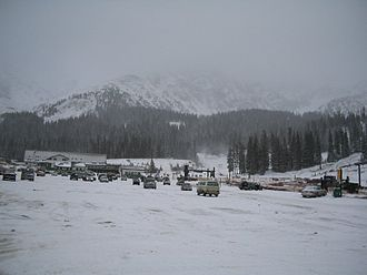 Arapahoe Basin - The base area of A-Basin on October 29, 2004