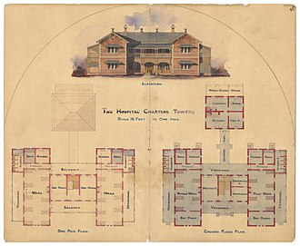 Charters Towers - Architectural plans for the Charters Towers District Hospital