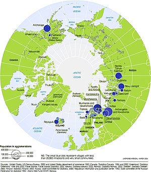 Arctic cooperation and politics - Arctic Population Map.