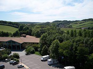 "Argançon - View of Argançon from ""Nigloland"""