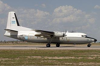 LADE - Image: Argentina Air Force Fokker F 27 400M Troopship Lofting 1