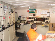 The Engine room of Argonaute, a French supply vessel.