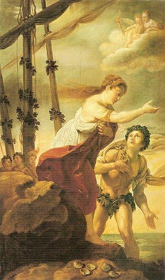 Virginia Ramponi-Andreini - Ariadne and Bacchus on the Isle of Naxos by Domenico Fetti