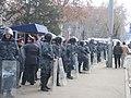 Armenian Presidential Elections 2008 Protest Day 11 - Opera Square riot police blockade.jpg