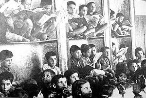 Armenian Genocide survivors - Image: Armenian child refugees (Aleppo, Syria, 1915)