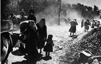 Kars - Armenian civilians fleeing Kars after its capture by Kâzım Karabekir's forces.
