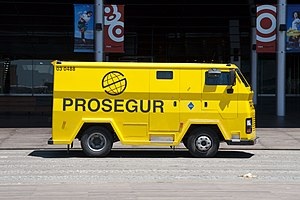 Armored car (valuables) - Prosegur armored car in Barcelona