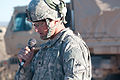 Army Sgt. Alfred Artuso, a team leader and Albuquerque, N.M. native with 1st Squadron, 1st Cavalry Regiment, 2nd Brigade Combat Team, 1st Armored Division, reads the history of Veterans Day during the Network 121111-A-KD772-004.jpg