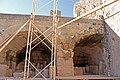 Artifacts near acropolis of Lindos church 2010.jpg