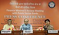 Arun Jaitley addressing a press conference after holding the Quarterly Performance Review Meeting of the ChairmanManaging DirectorsCEOs of Public Sector Banks (PSBs) & Financial Institutions (FIs), in New Delhi.jpg