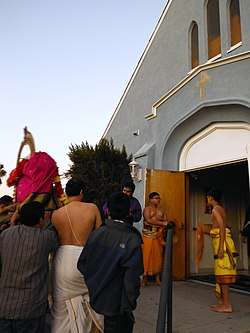 Ashtalakshmi temple - North Hollywood - Los Angeles California - Andhra Pradesh south India mandir in an ex-christian church - Andal Kalyana celebration January 2013 - DSCF2052.jpg