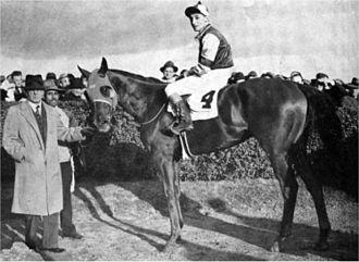 Assault (horse) - Assault, with Eddie Arcaro up