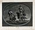 Astronomy; the moon, in her chariot drawn by a pair of women Wellcome V0024881.jpg