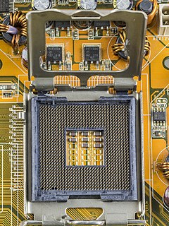 CPU socket provides mechanical and electrical connections between a microprocessor and a printed circuit board