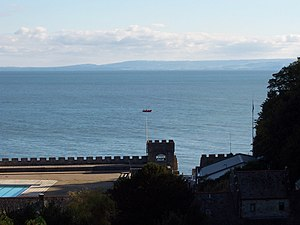 St Donats - Sea views from the castle