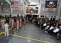 Attendees gather for the U.S. Navy chief petty officer (CPO) pinning ceremony inside the USS Midway Ceremonial Drill Hall at Recruit Training Command at Naval Station Great Lakes, Ill., Sept 120914-N-IK959-866.jpg
