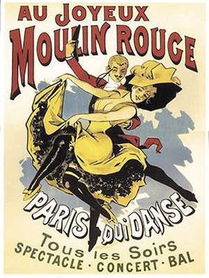 Alfred Choubrac - Advertising poster of the Moulin Rouge by Alfred Choubrac, 1896