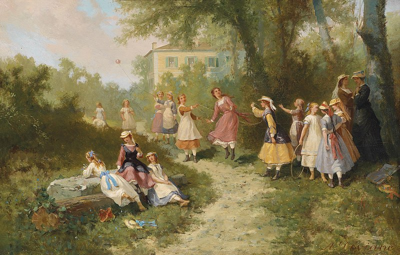 File:Auguste Viande Spielende Kinder im Garten.jpg