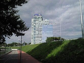 Economy - ESET (IT security company) headquarters in Bratislava, Slovakia.