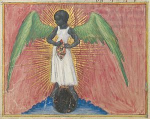 Aurora consurgens - Illustration of a dark angel found in Aurora consurgens