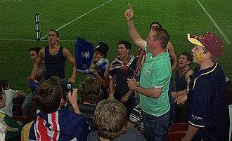 Aussie Aussie Aussie, Oi Oi Oi - Australian fans at a Rugby League match
