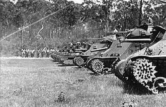 3rd Armoured Division (Australia) - M3 Grant tanks similar to those used by 2nd Armoured Brigade