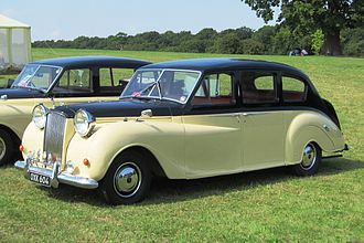 """Austin Princess - Austin Princess III 3995cc, registered March 1954. This car is not completely representative, having special """"bespoke"""" headlights."""