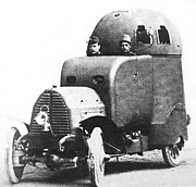 A 1906 Austro-Daimler Armoured Fighting Vehicle - Prototype