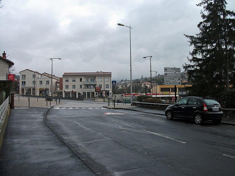 Jean Moulin Avenue in Romagnat, from Aubière, to Chanonat or Beaumont, Puy-de-Dôme, France [7964]