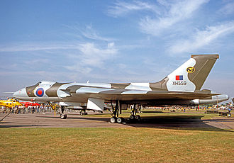 No. 35 Squadron RAF - Avro Vulcan B.2 of No. 35 Squadron at the RAF Queen's Silver Jubilee Review at RAF Finningley in July 1977.