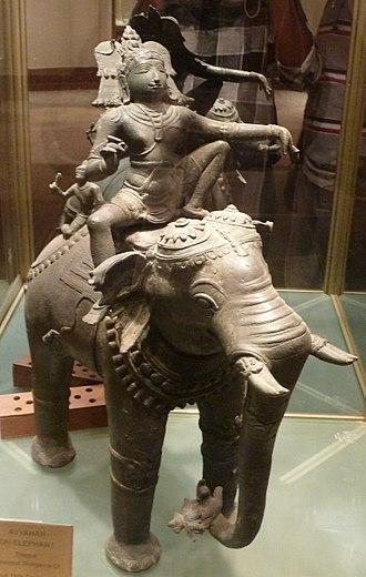 Aiyanar - Ayyānar on elephant,16th century