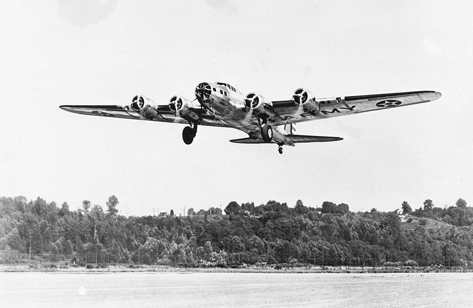 B-17B just after takeoff