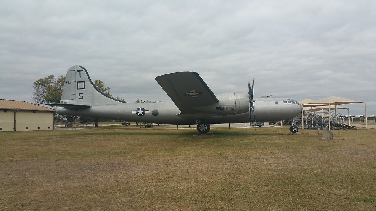 File:B-29 Superfortress at Lackland Air Force Base side jpg