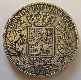 Belgian franc - 5 Francs (1873)