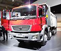BHARATBENZ Heavy Duty Truck 3128 C. left side. Spielvogel 2012.JPG