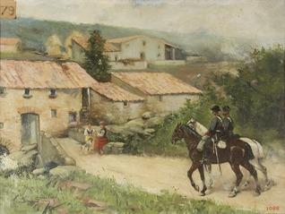 The Policeman Entering a Town