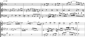 Inversion (music) - Bach's three-part Invention (Sinfonia) BWV 795, bars 1–9