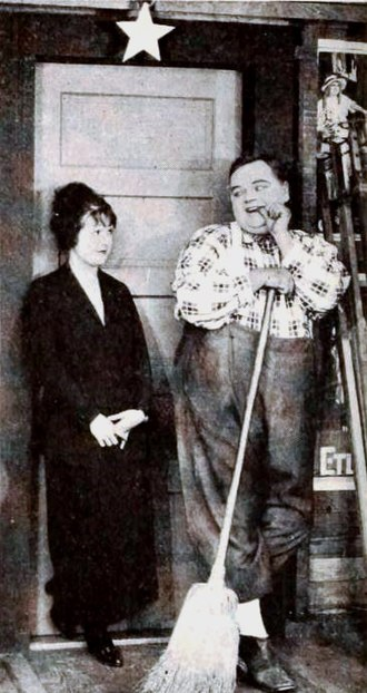 Back Stage (1919 film) - Molly Malone and Roscoe 'Fatty' Arbuckle in Back Stage.