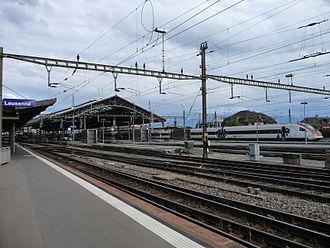 Lausanne railway station - Image: Bahnhof Lausanne