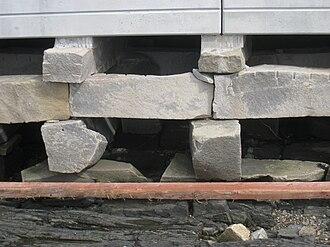 Bailey Island Bridge - Cribstones used in the cobwork construction of the bridge.